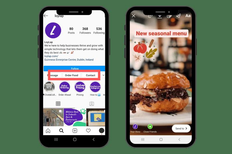Blog Instagram - order food